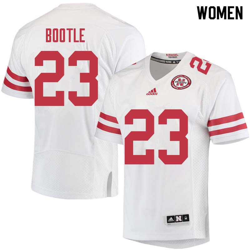 Women #23 Dicaprio Bootle Nebraska Cornhuskers College Football Jerseys Sale-White
