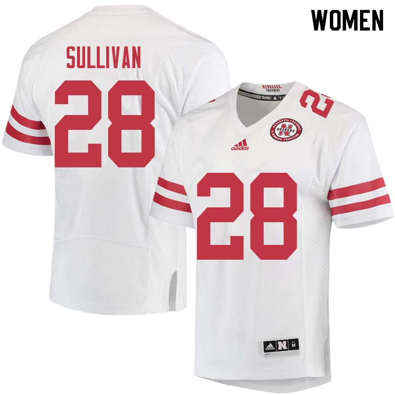 Women #28 Eli Sullivan Nebraska Cornhuskers College Football Jerseys Sale-White