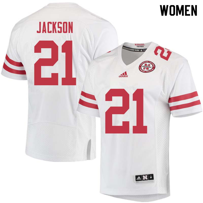 Women #21 Lamar Jackson Nebraska Cornhuskers College Football Jerseys Sale-White