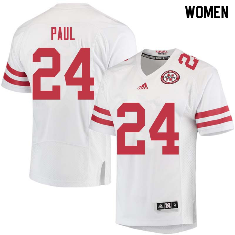 Women #24 Niles Paul Nebraska Cornhuskers College Football Jerseys Sale-White
