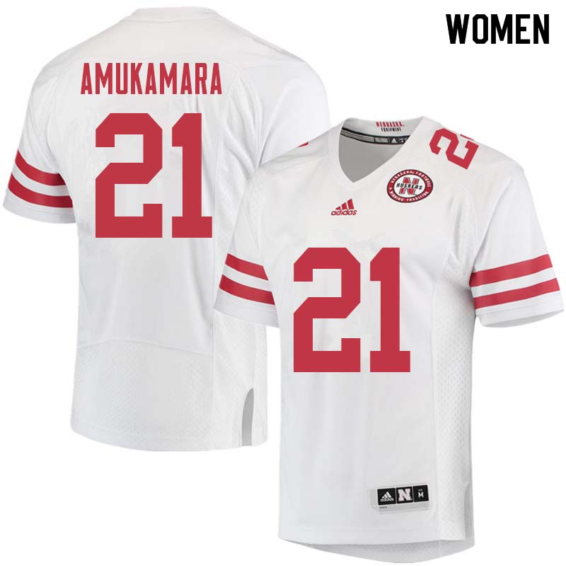 Women #21 Prince Amukamara Nebraska Cornhuskers College Football Jerseys Sale-White