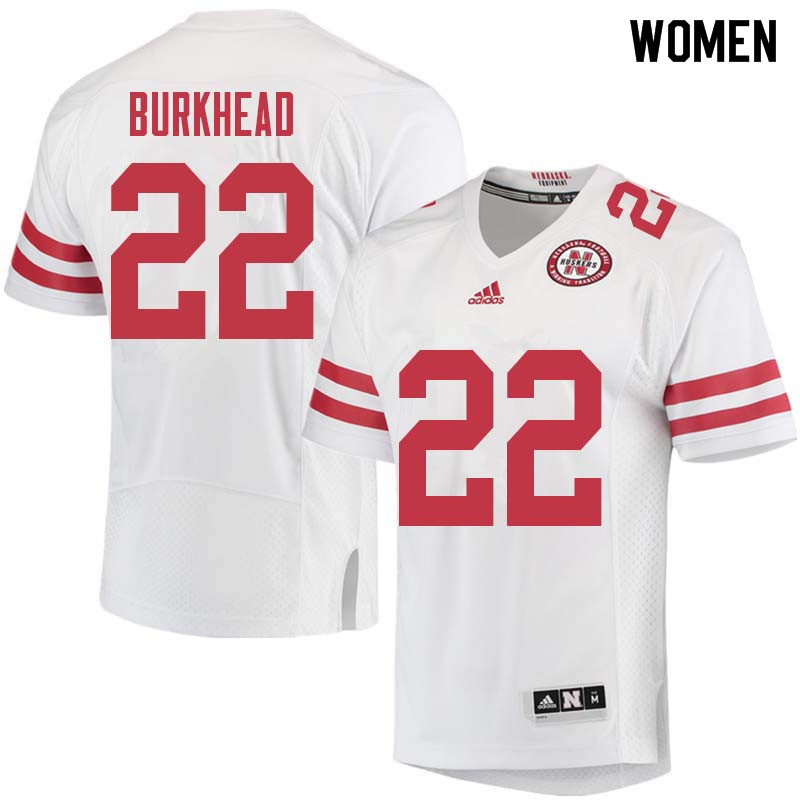 Women #22 Rex Burkhead Nebraska Cornhuskers College Football Jerseys Sale-White